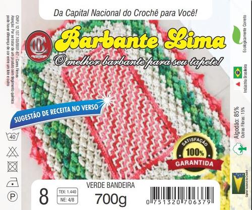 barbante colorido 18 un 700g fio 6 8 (7kg) + suporte cone