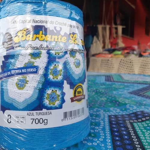 barbante colorido 20 un 700g (14kg) fio n6 n8 oferta