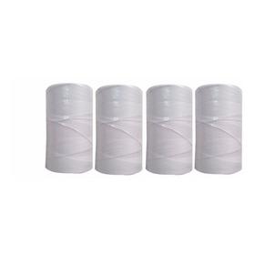 Barbante De Amarrar Linguiça Kit 4 Unidades Branco Algodão