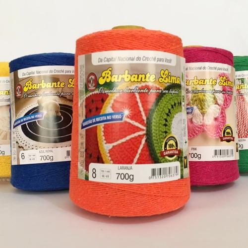 barbante lima colorido 12 cones 700g(8,4kg) n°6 8+ presente