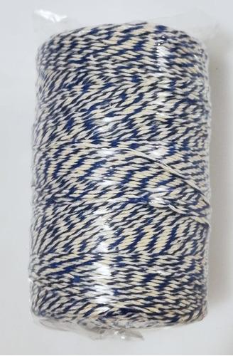 barbante mesclado : algodão azul e branco uso culinário