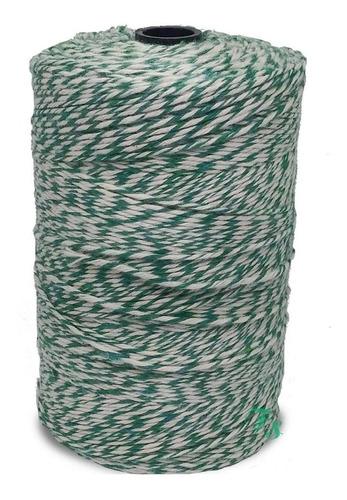 barbante mesclado : algodão verde e branco uso culinário
