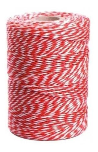 barbante mesclado : algodão vermelho e branco uso culinário