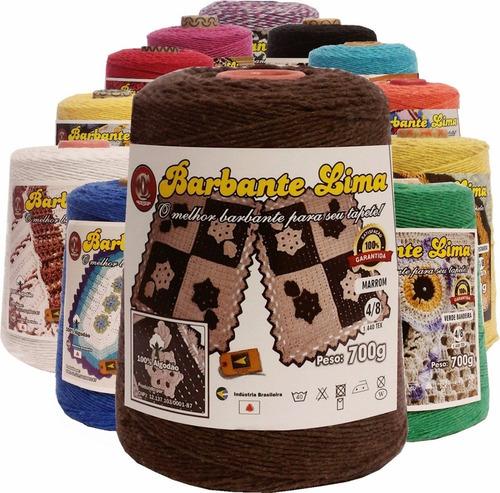 barbantes lima coloridos 1,350kg n°6 8  -kit 5 cones *oferta