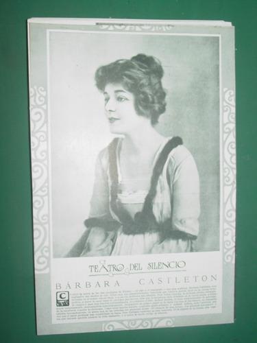 barbara castleton clipping recorte actriz teatro antiguo