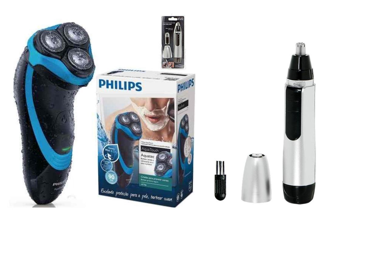 Barbeador Eletrico Philips Aquatouch At756 16 A Prova D água - R  243 c341a2caf939