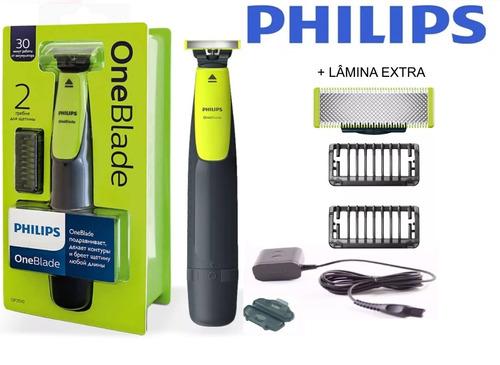 barbeador  oneblade philips 2 qp2510 original + lamina extra