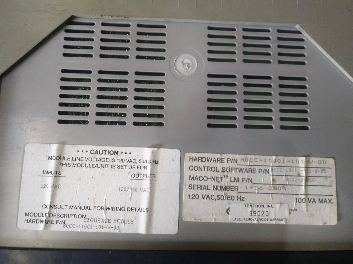 Barber Colman Maco 8000 Manual Kawasaki Fd750 Regulator Wiring Diagram Array Pac Sepuence Module 3500 00 En Rh Articulo Mercadolibre