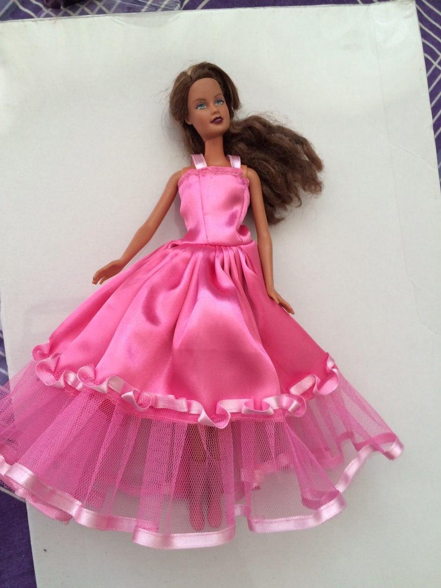 Barbi Original Pelo Rubio Flexsible Con Vestido De Fiesta - S/ 57,00 ...
