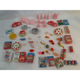 Barbie - Barby (76 Articulos) Comida Juguete Miniatura