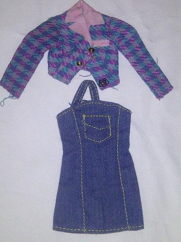 barbie 1 conjunto de ropa enterito vintage style del 90