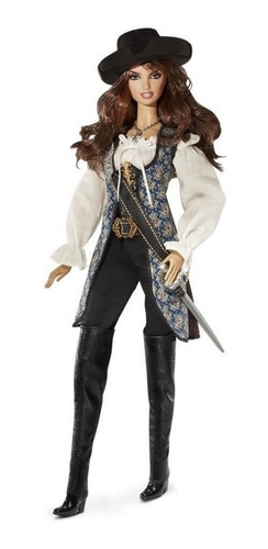 barbie 2010 angelica piratas do caribe collector