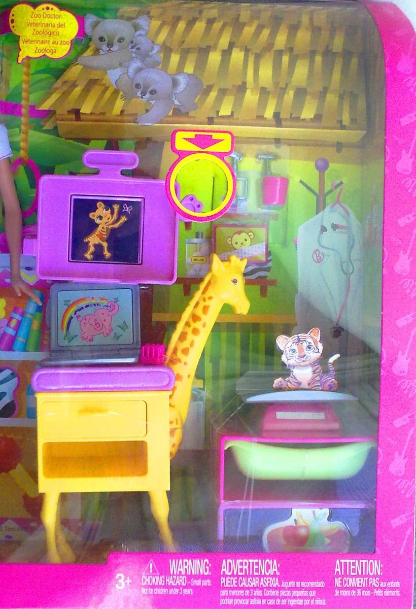 Barbie veterinaria gran set de barbie mobiliario y - Mobiliario para veterinaria ...