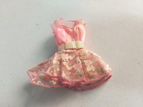 barbie anos 90 vestido rosa com brilhos