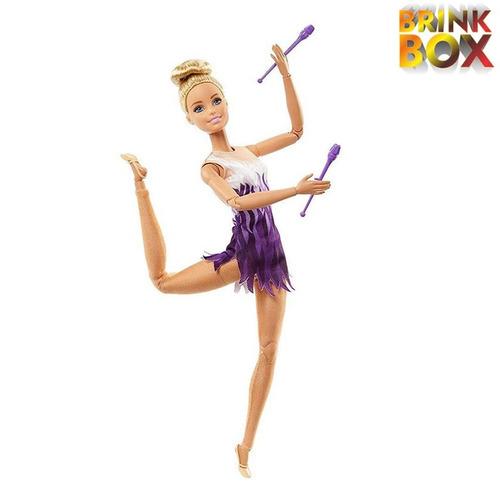 barbie articulada ginasta ritmica fjb18 mattel