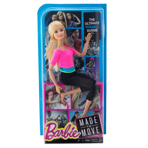 barbie articulada yoga feita para mexer top rosa made to mov