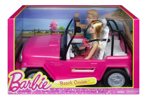 barbie auto de playa jeep barbie y ken incluidos beach cruis