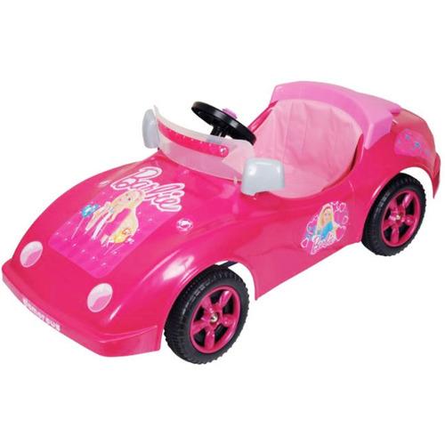 barbie auto sport a pedal varilla biemme 3 a 6 años