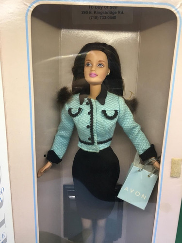 barbie avon barbie brunette morena 1998 special edition
