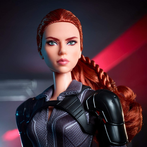 barbie black widow preto viuva negra marvel collector editio