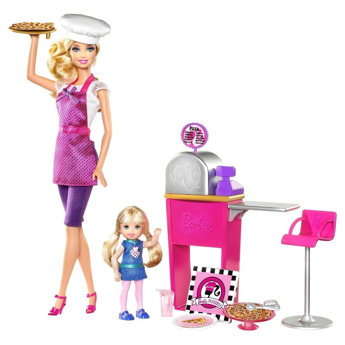 Barbie Carreras Set Pizza Chef Muneca Bebe Cocina U S 30 00 En
