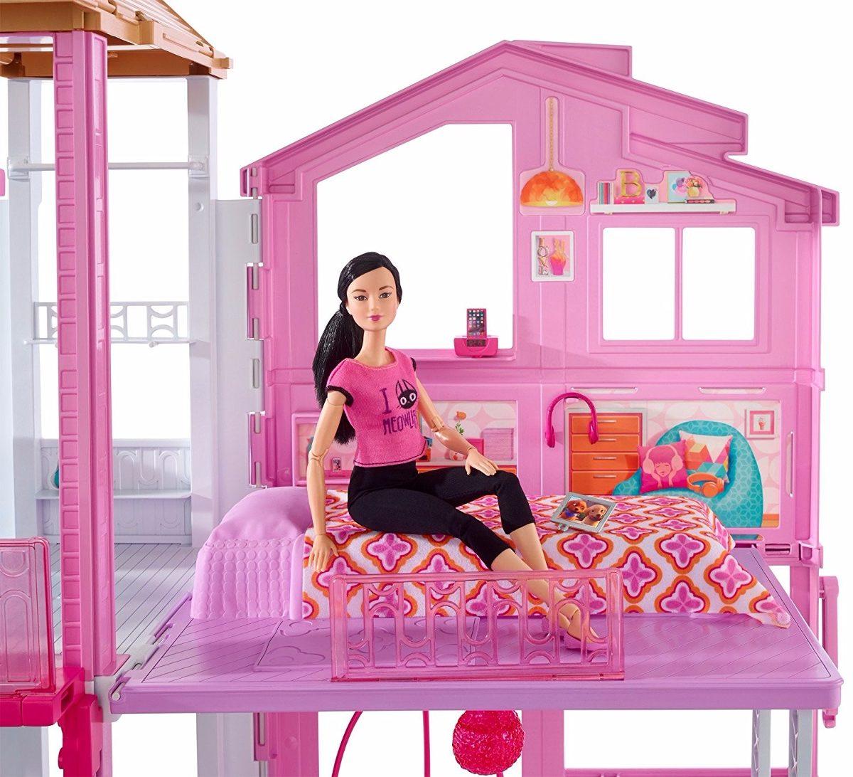 Barbie casa de campo con elevador y amueblada 90x60cm for Accessori x la casa