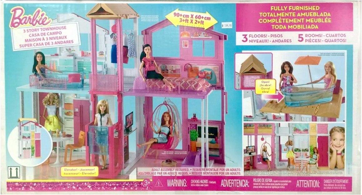 Barbie casa super 3 andares mattel dly32 r 645 00 em - Supercasa de barbie ...