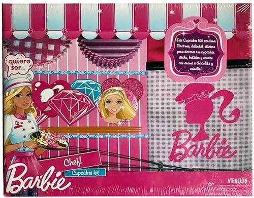 barbie chef cupcake kit + delantal batidor cod m001 bigshop