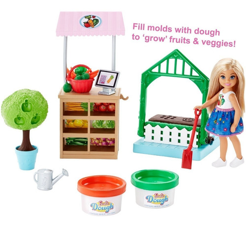 barbie chelsea jardin fruta vegetales plastilina oferta ya