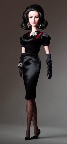 barbie clásico violeta ojos elizabeth taylor 12 inch muñeca