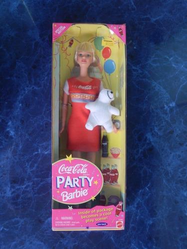 barbie coca cola party especial edicion usa 1998