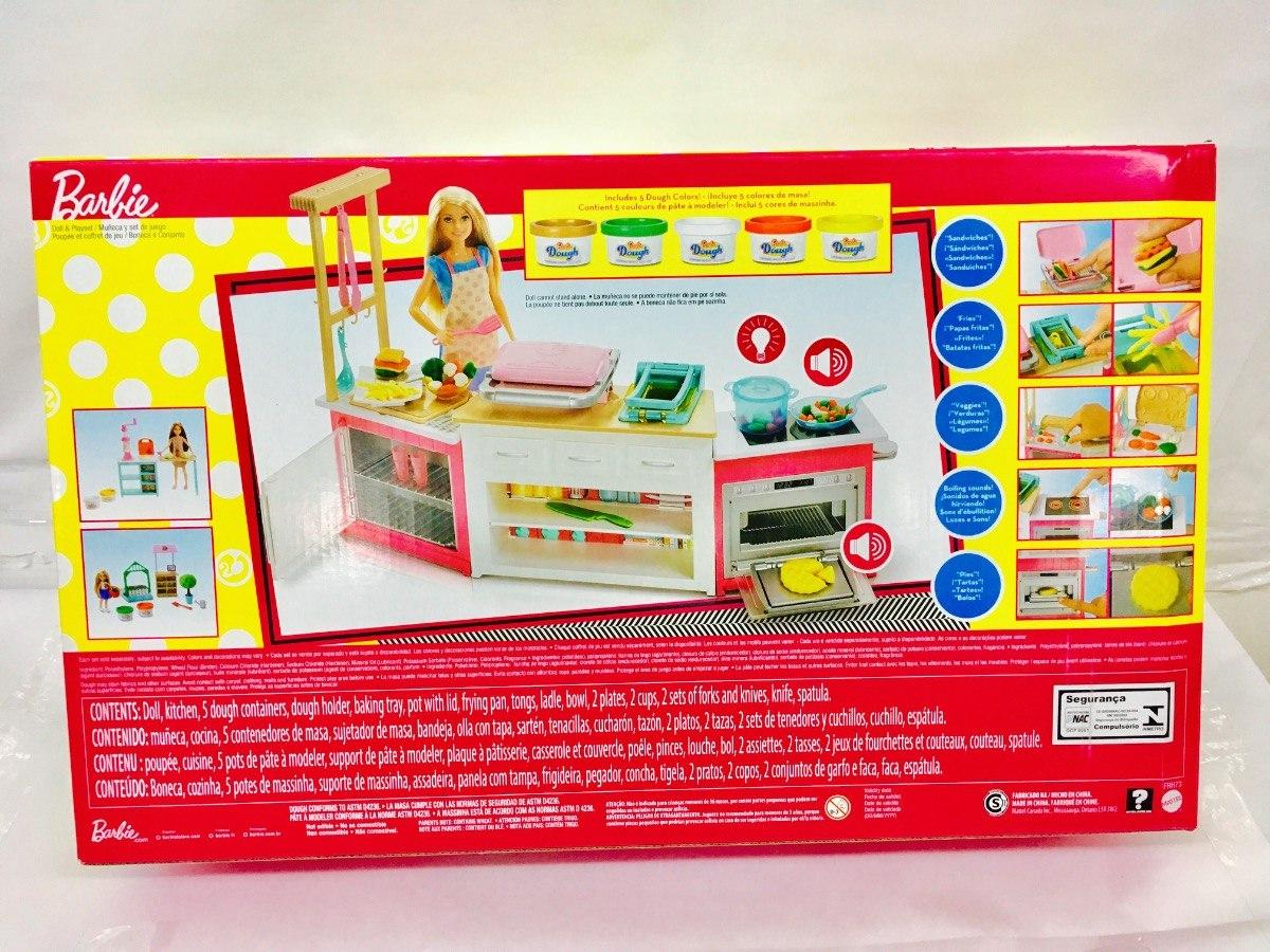 Barbie Cocina De Lujo 20 Accesorios Luz Y Sonido Mattel 989 00