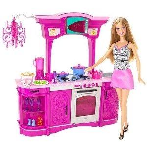 Barbie Cocina Juego Set Glam Cocina 2 933 00 En Mercado Libre
