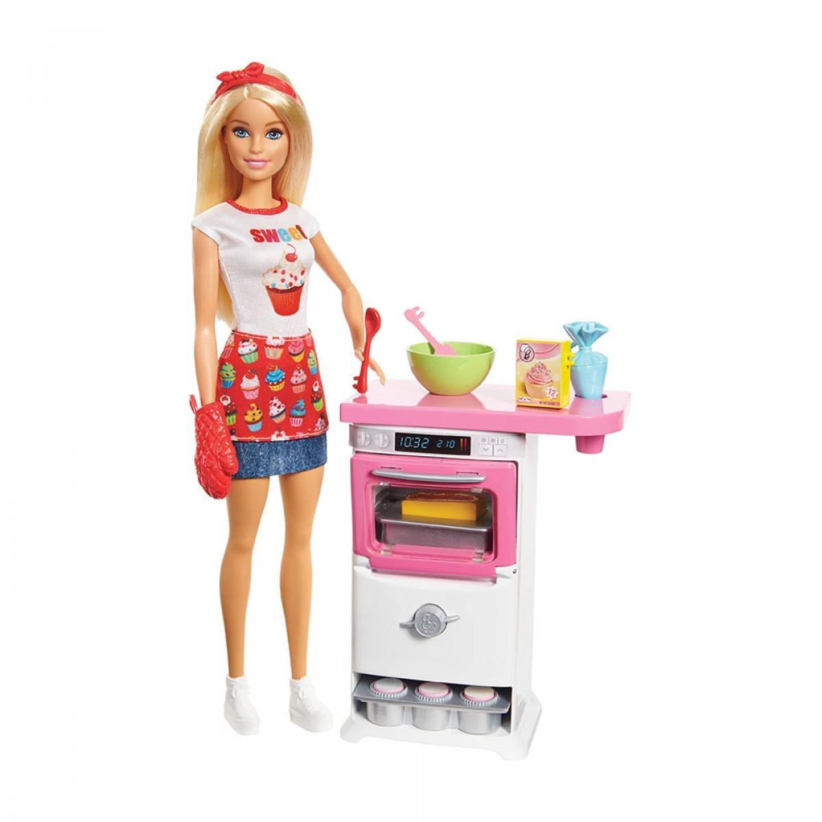 Barbie Cocina Y Crea Chef De Pastelitos Set De Juego 689 00 En