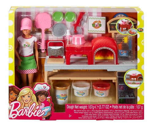 barbie cocina y crea chef de pizza