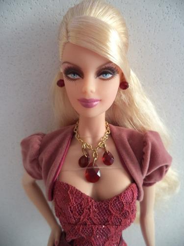 barbie collector holiday 2009 vestindo birthstone beauties