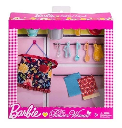 Barbie Como Pionera Juego De Accesorios Para Cocina Diseno D