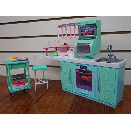 Barbie De Tamaño Dollhouse Muebles Cocina Americana Cocina  $ 1,342