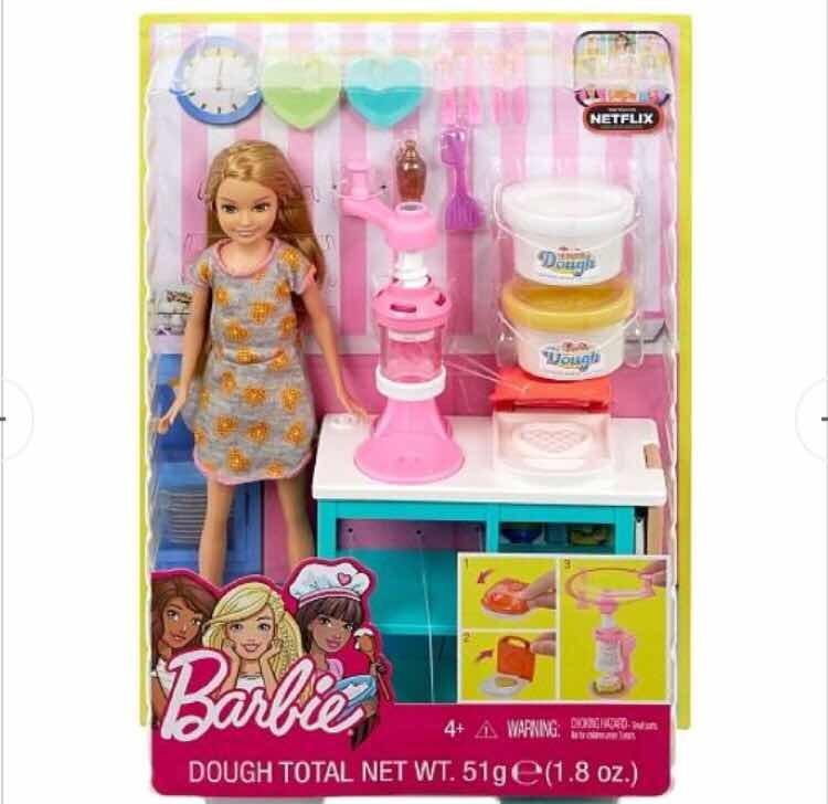 Barbie Dough Playset Muneca Juego De Desayuno Original 490 00 En