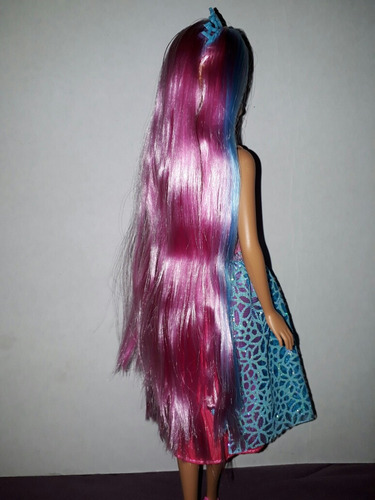barbie dreamtopia princesa cabello rosa