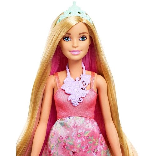 barbie dreamtopia princesa peinados mágicos cambia de color