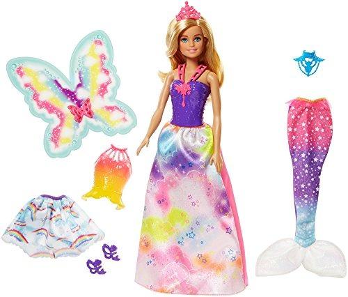 Barbie Dreamtopia Sirena Hada Juego De Vestir Rubia