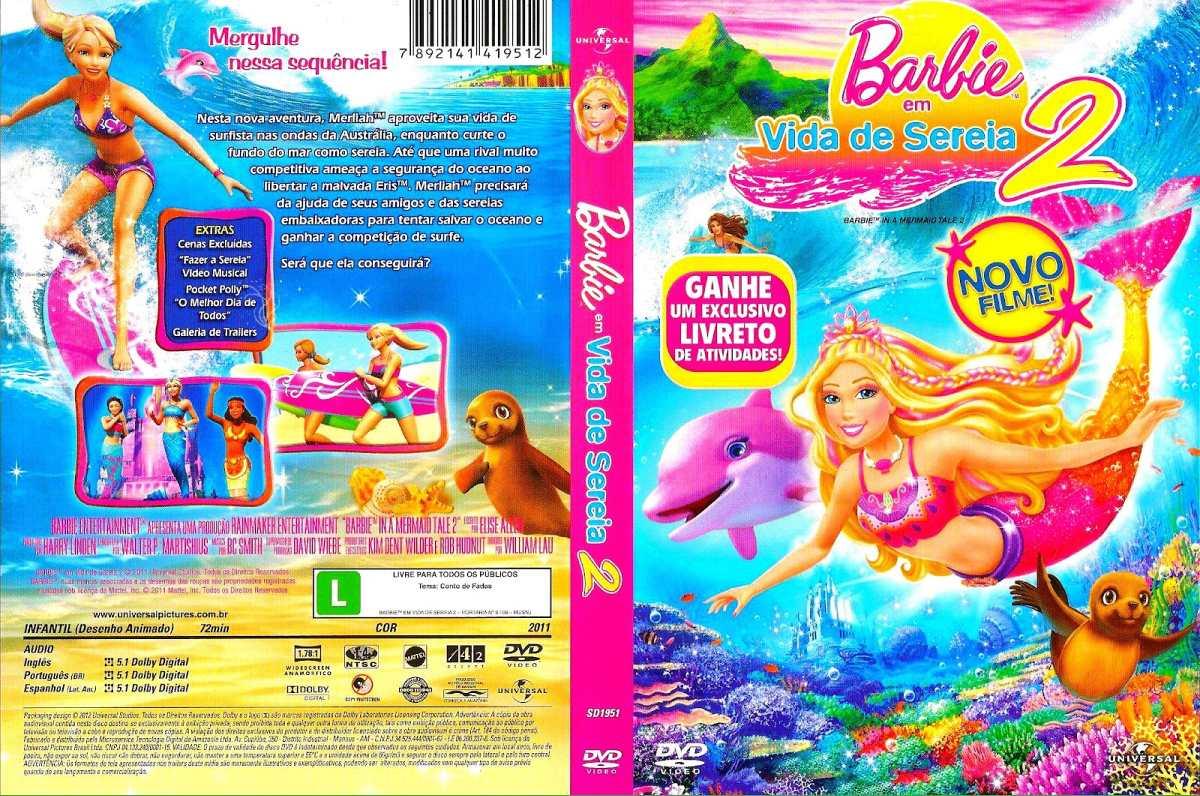 barbie em vida de sereia 2 dvd original r 20 00 em mercado livre