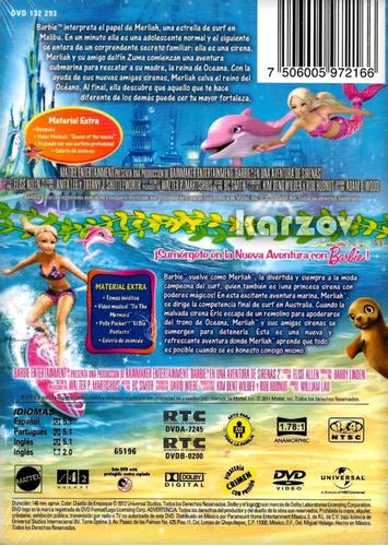 barbie en una aventura de sirenas 1 uno y 2 dos boxset dvd