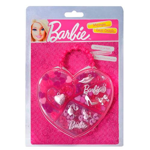 barbie estojo especial coração com acessórios miçangas
