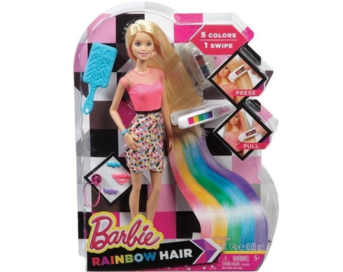 barbie fab barbie cabelo de arco-iris