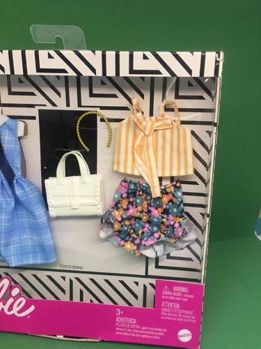 barbie fashion 2 pack linha 2020 xadrez short conjunto roupa