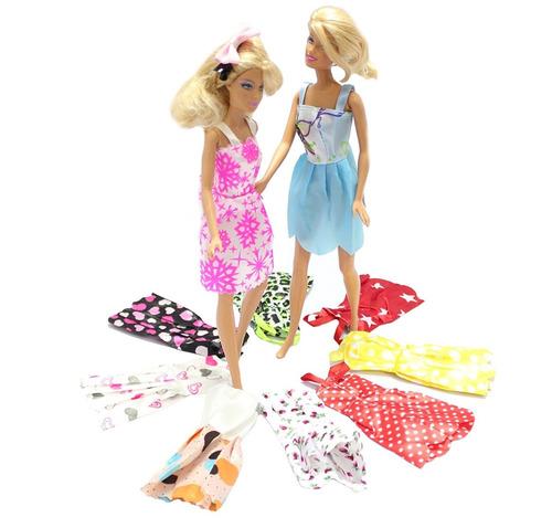 barbie fashionista ropa vestidos 5 piezas+obsequio