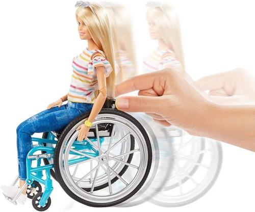 barbie fashionistas 132 cadeira rodas lançamento 2019