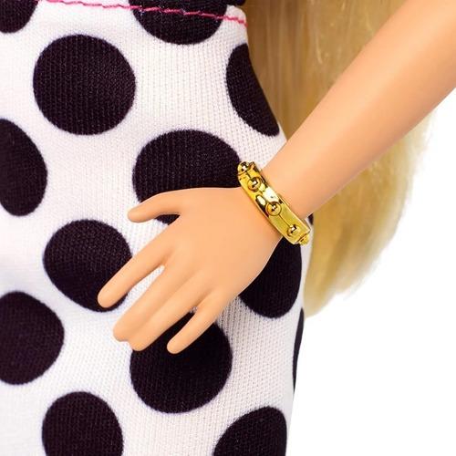 barbie fashionistas 134 saia de bolinhas